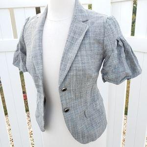 🆕Banana Republic Short Sleeve Cropped Gray Blazer